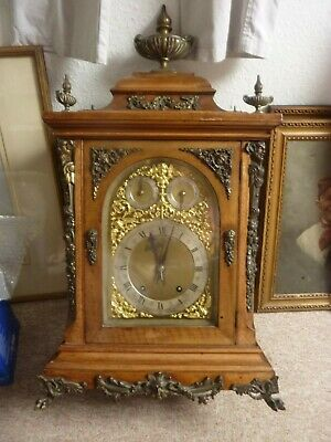 A Victorian Antique walnut Bracke Clock  Winterhalder & Hoffmeier W & H