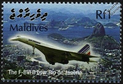 Air France CONCORDE F-BVFD (Rio De Janeiro) Supersonic Airliner Aircraft Stamp