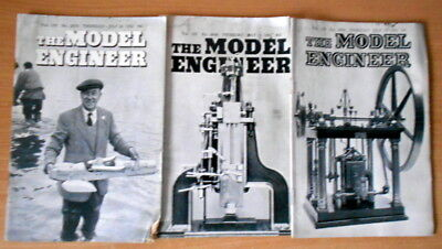 The Model Engineer Magazines - 1952.. 3 copies.  Vintage engineering.