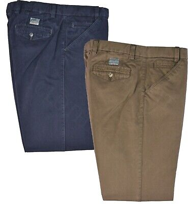 Mens Premium Chino Trouser Casual 100% Cotton 32-54  Active Elasticated Waist