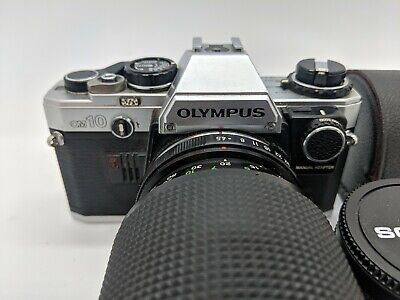 Olympus Om10 35Mm Film Camera With Vivitar 75-200Mm Lens And Tele X2 Converter
