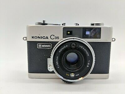 Konica C35 Automatic Compact Range Finder 35Mm Film Camera Fully Working
