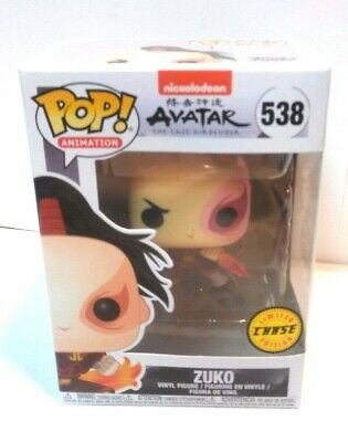 Funko Pop! ZUKO Avatar Last Airbender NEW IN BOX!! CHASE Vinyl Fig w/ PROTECTOR