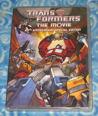Transformers The Movie 20th Anniversary SE 2 Disc DVD w Case Insert Excellent