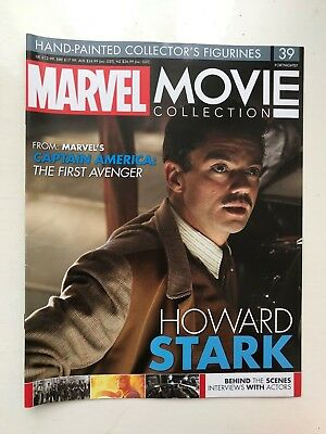 Marvel Movie Collection Issue 39 Howard Stark Eaglemoss Figurine Magazine Only