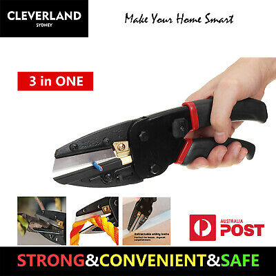 AU Multi-Function Cut 3 In 1 Plier Box wire cable rope wood rubber cutter knife