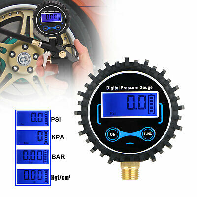 230 PSI Car Motor LCD Digital Display Tire Tread Air Pressure Gauge Night Vision