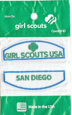 San Diego ~Junior Cadette Older Girl Scouts Council ID Patch Set NEW Made in USA