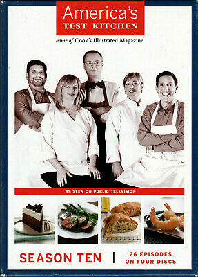 AMERICAS TEST KITCHEN The SEASON TEN 10 on 4 DVD of COOKING a TV SHOW Series PBS