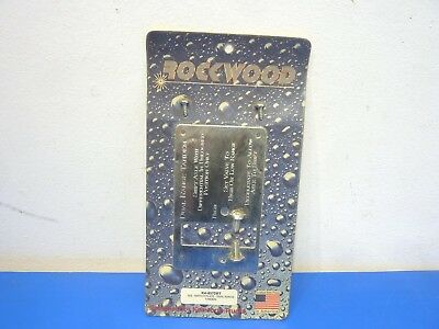 Rockwood KA-857DRT,Stainless Steel Dual Range Tandem Switch Plate,NEW,Lot of 1