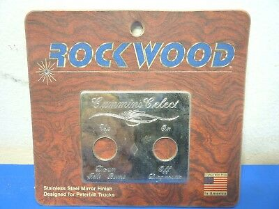 Rockwood PE-19CC,Stainless Steel Cummins Celect Switch Plate,NEW,Lot of 1