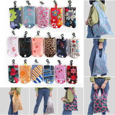 Foldable Shopping Bag Recyclable Grocery Tote Pouch Eco-Friendly Washable Bag LO