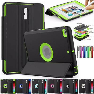 PU Leather Smart Shockproof Hybrid Stand Case Cover For iPad Mini 5th Generation