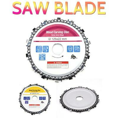 """5"""" Angle Grinder Disc 125mm 14 Tooth Chain Saw Blade For Wood Carving Cutting"""