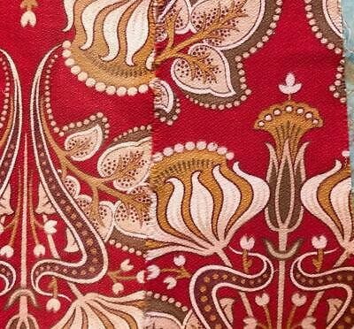 1.4m NARROW PIECE BEAUTIFUL 19th CENTURY FRENCH LINEN COTTON INDIENNE 246