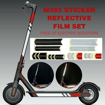 For Xiaomi Mijia M365 Electric Scooter Styling Set PVC Reflective Stickers