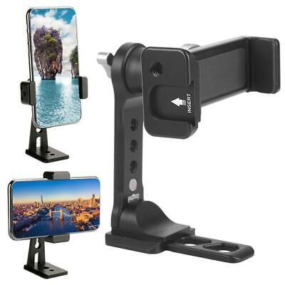 """360 Degree Rotation Phone Clamp Holder Cellphone Stand Clip 1/4"""" Hole fr Tripod"""