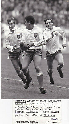 photo LAGISQUET BLANCO SELLA Presse RUGBY XV universal photo 1989