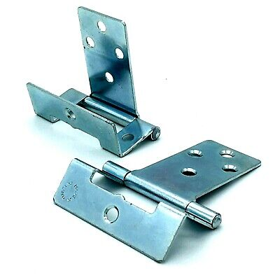 CRANKED HINGES 50mm zinc plated easy hang flush hinge caravan cupboard (400)