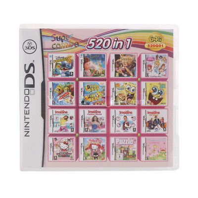 520 in 1 Video Games Card Cartridge Console For Nintendo NDS NDSL 2DS 3DS NDSI