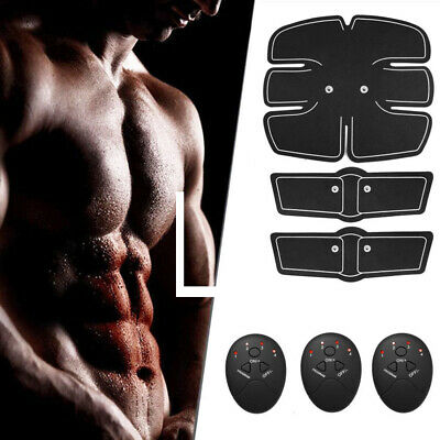 Fitness Abdominal Muscle Trainer 3 in 1 ABS Stimulator Toner Battery Rechargable