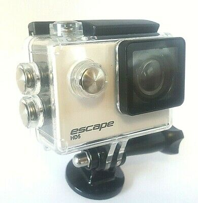 Kitvision Escape HD5 720p Waterproof Action Camera in White with Mounting Access