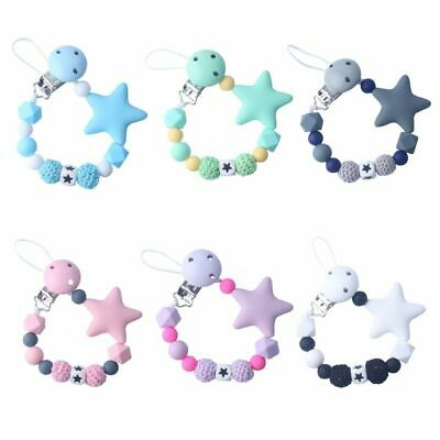 Child Baby Pacifier Chain Soothing Girls Boys Cute Stars Colorful Design Toys