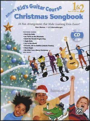 Alfred's Kid's Guitar Course Christmas Songbook 1&2 Music Book/CD