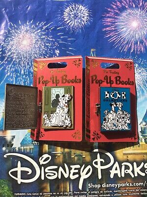 Disney World Parks Pop-Up Books 101 Dalmatians Pin LE In Hand