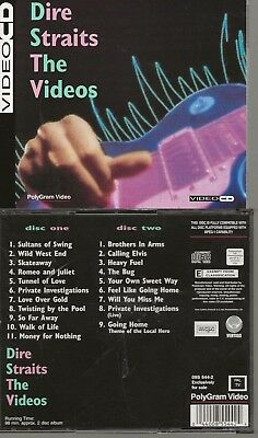 VIDEO 2 CD ( = DVD )  DIRE STRAITS THE VIDEO'S + MORE region 2 europe