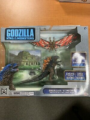 New Release GODZILLA 2019 King of the Monsters MOTHRA Figure Set BATTLE PACK