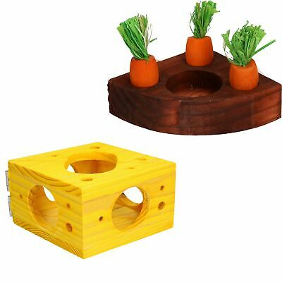 Small Animals Hamster Activity Carrot Toy 'n' Treat Holder & Cheese Block