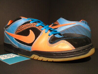 2008 NIKE DUNK Sb Air Zoom Oncore Premium 6.0 Black Orange Turquoise Blue 10.5