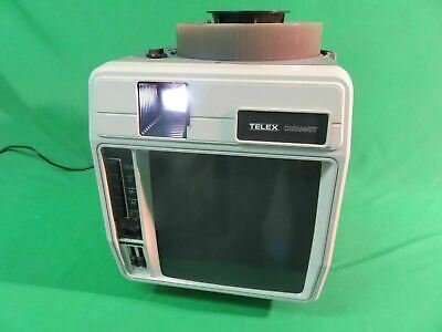 Vintage Telex Caramate 4480 Slide Projector w/Carousel Tray & Cassette Player