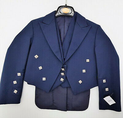 Ex Hire Navy Prince Charlie Jacket & Vest Scottish Made A1 condition £49