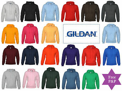 Gildan Adult Heavy Blend Pullover Hooded Sweatshirt Plain Hoodie top