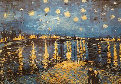 Paint by numbers Starry night over de Rhône - Van Gogh