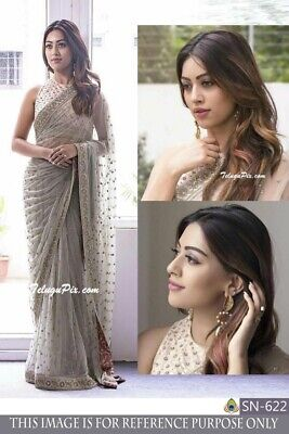 d5a3024495 Indian Bollywood BUTTERFLY MONO NET Saree Blouse Pakistani ethnic Wedding  Sari