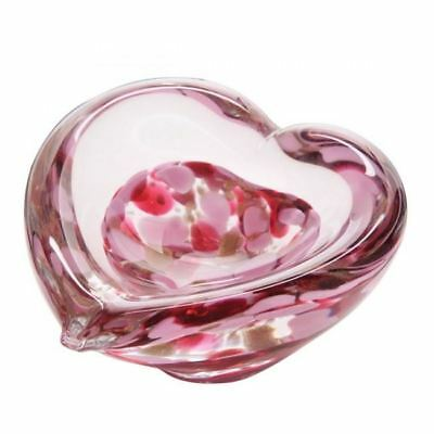 Caithness Glass Mini Heart Fuchsia Paperweight