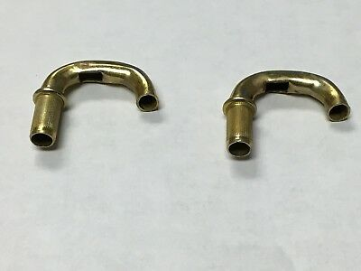 "pair AED Holley Carb 2 1//4/"" Stainless Vent Tubes Carburetor"