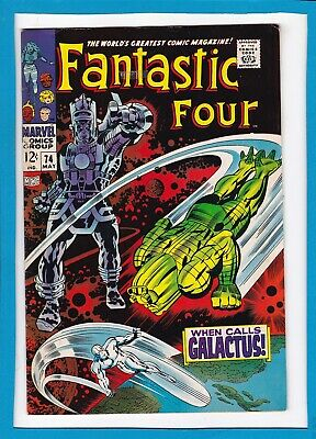 """Fantastic Four #74_May 1968_Vf Minus_""""when Calls Galactus""""_Silver Age Marvel!"""