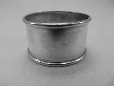 HM Silver Napkin Ring (526a) - Sheffield 1908 James Deakin & Sons - Not Engraved