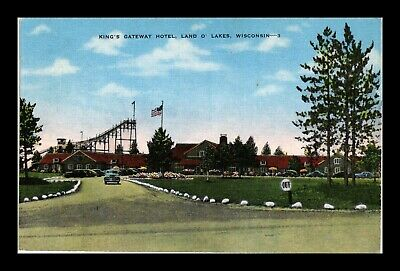 Dr Jim Stamps Us Postcard Kings Gateway Hotel Land O Lakes Wisconsin