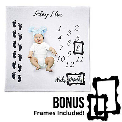 BABY MILESTONE BLANKET Monthly Newborn Shower Growth Gift Prop Photo Background