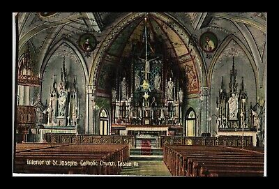 Dr Jim Stamps Us Postcard St Josephs Catholic Church Easton Pennsylvania