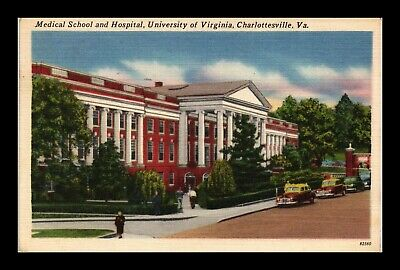 Dr Jim Stamps Us Postcard University Of Virginia Hospital Charlottesville Linen