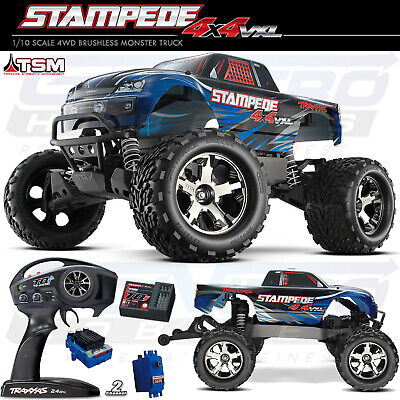 TRAXXAS 67086-4 STAMPEDE 4X4 VXL Brushless RTR Truck BLUE w