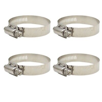 Jet Breeze 60 Stainless 3 5//16-4 1//4 In Boat Hose Band Loop Clamps Set of 4