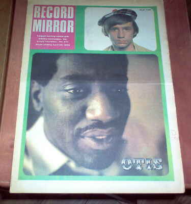 Record Mirror Magazine 1968 UK Small Faces Otis Redding Pink Floyd Vintage Music