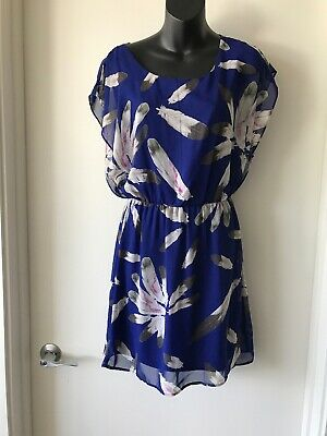 A beautiful royal blue feather dress, double-lined. Feathers. Medium